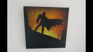 Using Acrylic Pours To Make Awesome Batman Art
