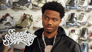 Roddy Ricch goes Sneaker Shopping with Complex's Joe La Puma at Stadium Goods in New York City and talks about Nipsey Hussle's influence on him, LeBron James co-signing his music, and shopping at the Compton Swap Meet growing up.  Subscribe to Complex on YouTube: https://www.youtube.com/channel/UCE_--R1P5-kfBzHTca0dsnw?sub_confirmation=1  Check out more of Complex here: http://www.complex.com https://twitter.com/Complex https://www.facebook.com/complex http://instagram.com/complex https://plus.google.com/+complex/  COMPLEX is a community of creators and curators, armed with the Internet, committed to surfacing and sharing the voices and conversations that define our new America. Our videos exemplify convergence culture, exploring topics that include music, sneakers, style, sports and pop culture through original shows and Complex News segments. Featuring your favorite celebrities, authoritative commentary, and a unique voice, our videos make culture pop.