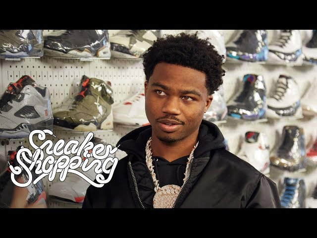 Roddy Ricch Goes Sneaker Shopping With Complex