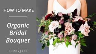 How To Make A DIY Organic Bridal Bouquet