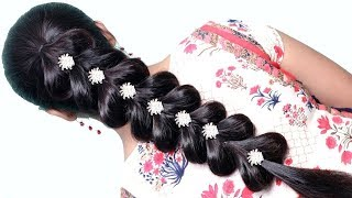 very easy hairstyle with trick || trending hairstyle || party hairstyle || hairstyles 2019
