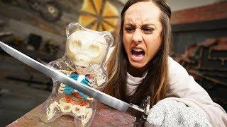 GIANT Gummy Bear Skeleton? | Destroying Matthias