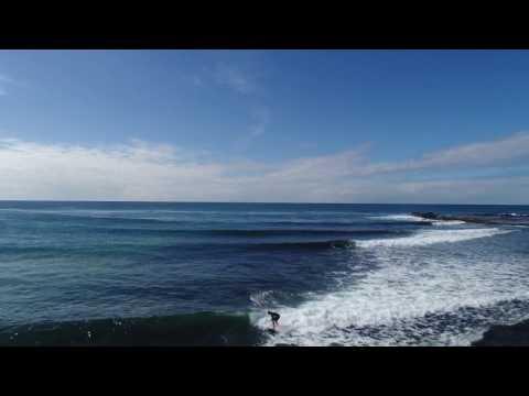 Werri Beach drone footage of surf