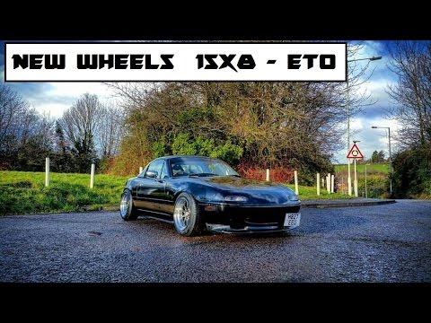 Project miata / MX5 - fitting new wheels 15x8 et0 mad offset