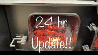 Wood Boiler 24 hr Burn Time Update! How Much Wood Do We Actually Burn?!?
