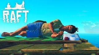 МОЖНО и ПОСПАТЬ! Построили КРОВАТЬ и ВТОРОЙ ЭТАЖ Выживание в ОКЕАНЕ с Funny Games TV Игра RAFT #3