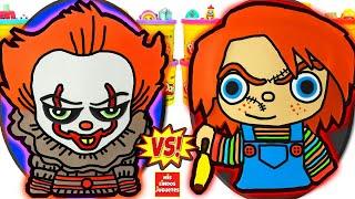 Huevos Sorpresa Gigantes de Payaso Eso It Pennywise VS Chucky de Plastilina Play Doh en Español