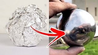 3 Easy Steps To Make a Polished Aluminum Foil Ball - Japanese Foil Ball - Video Youtube