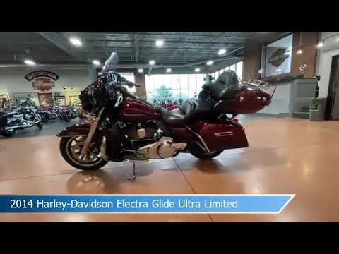 2014 Harley-Davidson<sup>®</sup> Electra Glide<sup>®</sup> Ultra Limited MYS RED/CAYENNE W/ PINSTRIP