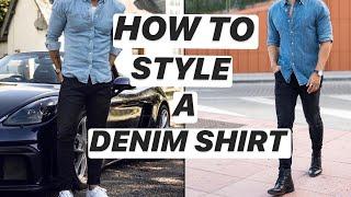 How To Style A Denim Shirt ! | Denim Shirt Outfit Ideas