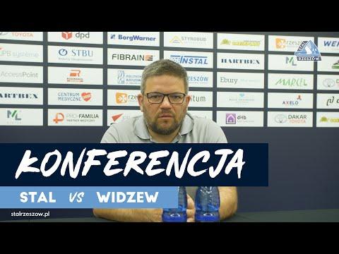 Konferencja prasowa po meczu Stali Rzeszów z Widzewem Łódź [WIDEO]