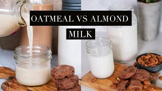 How to Make Plant Based Milks at Home | Oat, Almond and Coconut