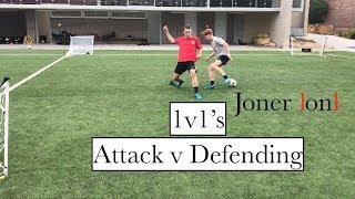Coaching 1v1's Attacking v Defending | 4 goals | 4 players | Joner 1on1 Football Training