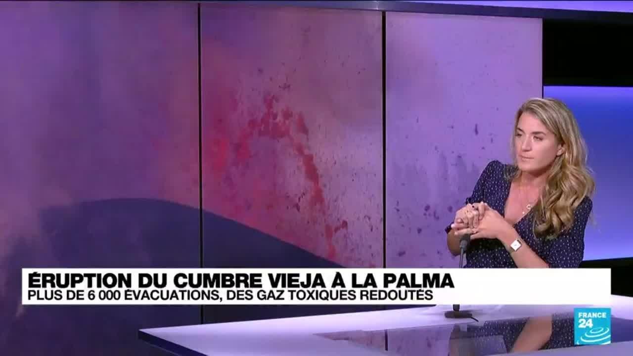 """Eruption aux Canaries : """"Le contact entre la mer et la lave peut créer des explosions"""""""