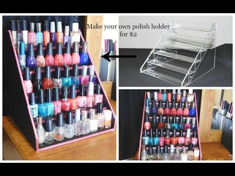 Dollar tree diy nail polish holder summer rain diy video easy diy nail polish table display rack for super cheap solutioingenieria Choice Image