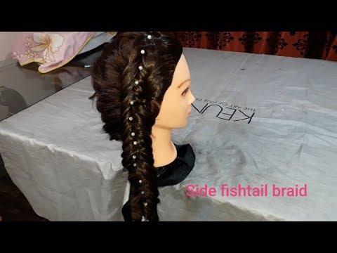 Dutch Side Fishtail Braid | How To Do Dutch Side Fishtail Braid At Home.
