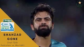 Ahmad Shahzad Out By Imran Tahir| Independence Cup 2017 | Pakistan vs World XI