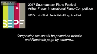2017 Arthur Fraser International Piano Competition