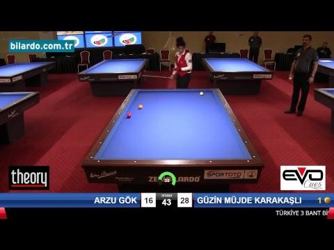 ARZU GÖK & GÜZİN MÜJDE KARAKAŞLI Bilardo Maçı - 2018 KADINLAR 1.ETAP-Yarı Final