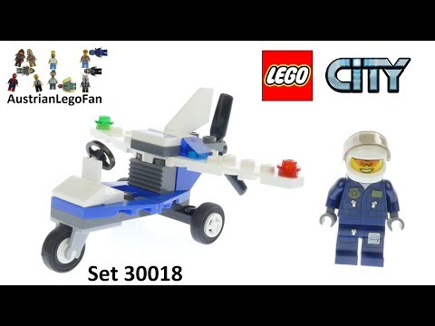 Vidéo LEGO City 30018 : L'avion de police (Polybag)