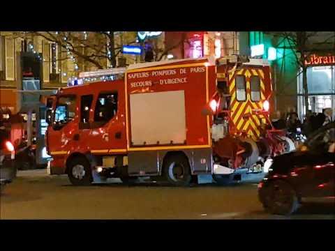 Pompiers de Paris PS SPVL en urgence Paris Fire Dept Engines Responding