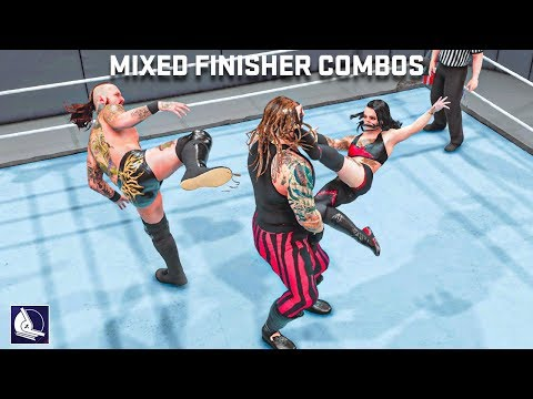 10 Epic Intergender Finisher Combinations in WWE 2K19 (mixed)