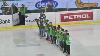 U-12, U-14 Predstavitev na tekmi HDD Olimpija, 12.4.2017