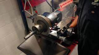 how to : use the ammco brake lathe