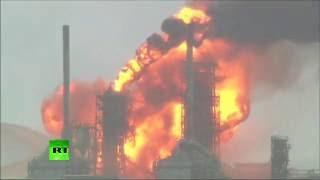 На нефтеперерабатывающем заводе в Новом Орлеане произошел сильный пожар