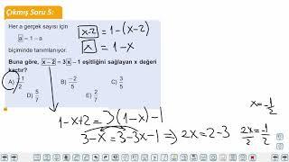 Eğitim Vadisi TYT Matematik 11.Föy I.Dereceden Denklemler 1 Konu Anlatım Videoları