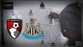Tactics board   Bournemouth v Newcastle United