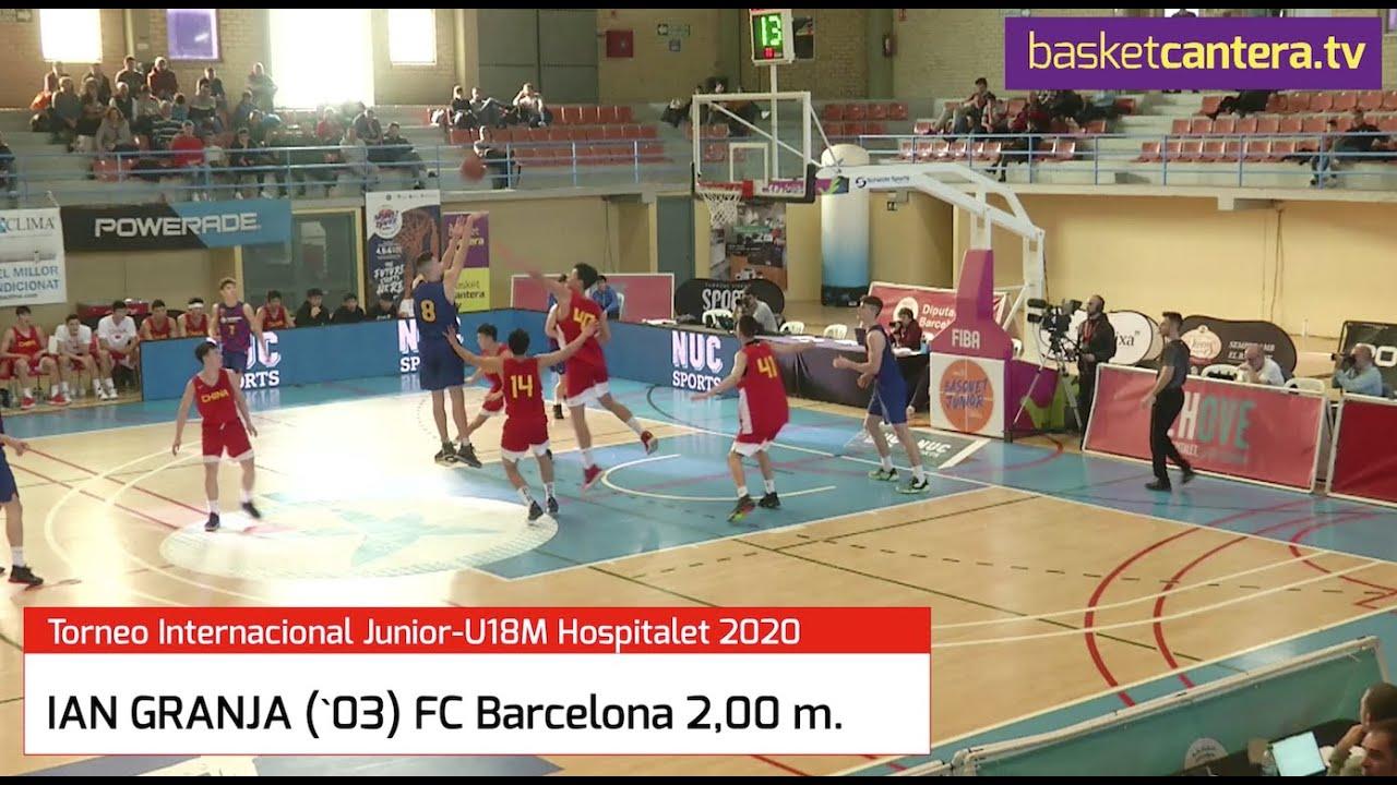 IAN GRANJA (´03) 2,00 m. FC Barcelona.- Torneo Internacional U18 Hospitalet 2020 (BasketCantera.TV)