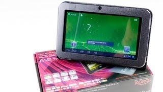 Review: Xoro PAD 716, 7 Zoll Android 4 Tablet-PC mit Tasche - sehr günstiges Tablet im Test