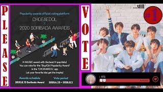 VOTE BTS for CHOEAEDOL X SORIBADA AWARDS 2020