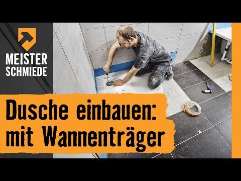 Dusche einbauen: mit Wannenträger | HORNBACH Meisterschmiede