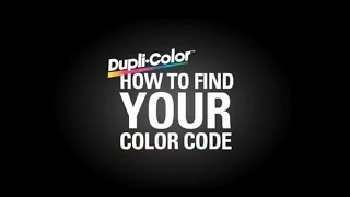 Dupli-Color Find Your Color Code: General Motors
