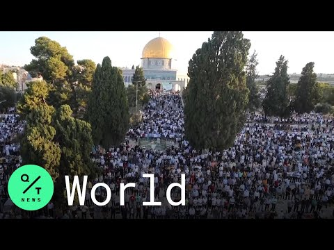 Eid al-Adha: Muslim Faithful in Jerusalem's Old City Mark Eid With Prayers
