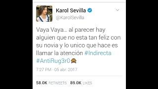 Karol Sevilla Responde a las Indirectas de Ruggero en Twitter y pasa escandalo y polémica ¿pelearon?