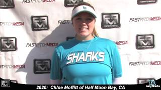 2020 Chloe Moffitt Power Hitting Pitcher and First Base Softball Skills Video