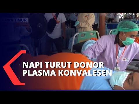 Warga Binaan LP Kelas I Surabaya Ikut Donor Plasma Konvalense