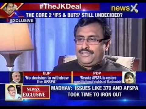 NewsX Exclusive interview with Ram Madhav, National General Secretary of BJP