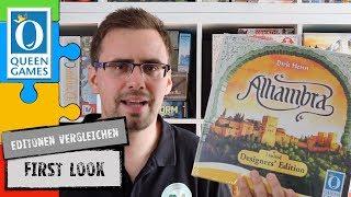 #FirstLook - Alhambra  Limited Designers' Edition - Vergleich der Editionen (Queen Games 2019)