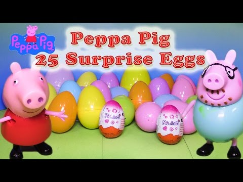 Funny PIG Nickelodeon  25 Surprise Eggs a Toys  Surprise Egg Video