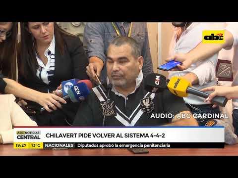 Chilavert pide volver al sistema 4 - 4 - 2