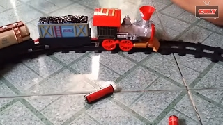 Bộ đồ chơi đường ray Xe lửa tàu hỏa chở hàng gỗ, nước, xăng - trains toy for kids