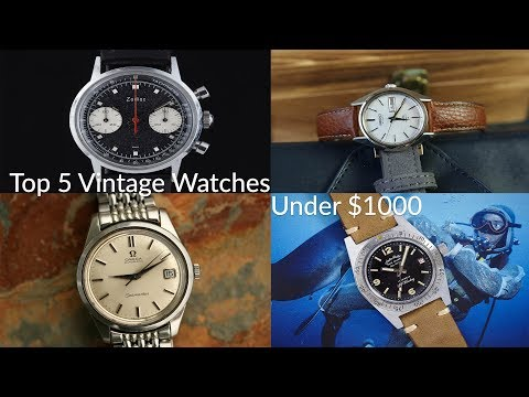 Top 5 Vintage Watches Under $1000 | Omega, King Seiko, Zenith & More