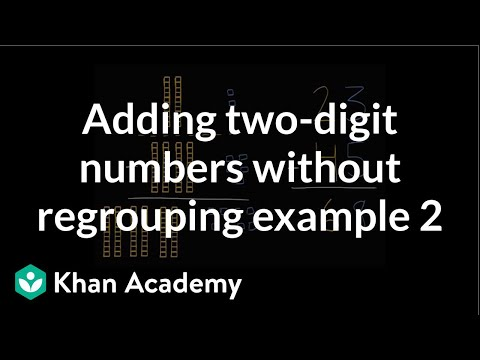 Adding 2-digit numbers without regrouping 2 (video) | Khan Academy