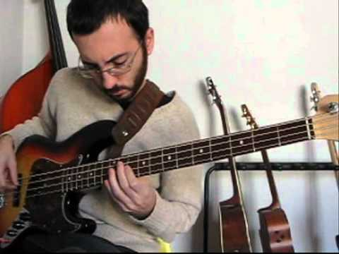 PRACTICING ON BLUES FOR ALICE (BIRD BLUES) CHARLIE PARKER ON BASS