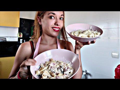 Pasta Garofalo a la carbonara/ receta / cocina