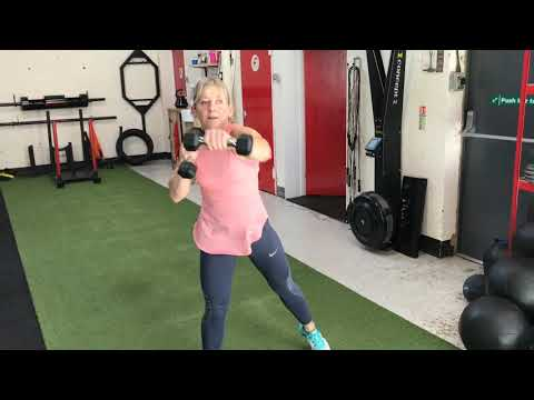 Dumbbell Squat and Punch